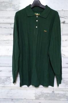 セールレゲエラスタビッグシルエットポロシャツグリーン