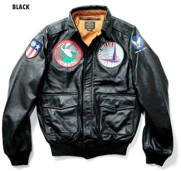 Houston/ホースレザー/カスタムA-2/ブラック/8197/フライトジャケット