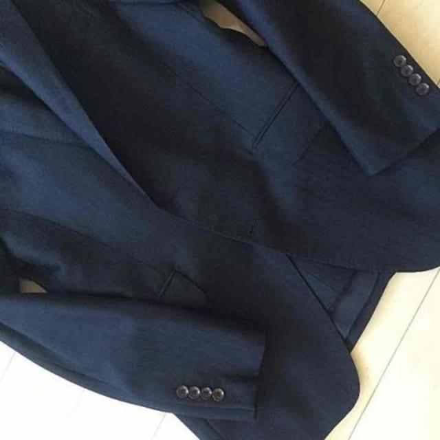 ☆美品 パーソンズ 織柄2釦  細身スーツ 黒 M 2パンツ付☆ < ブランドの