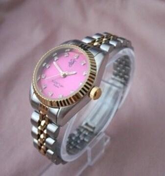 コンビベルトメタルウォッチWR−腕時計