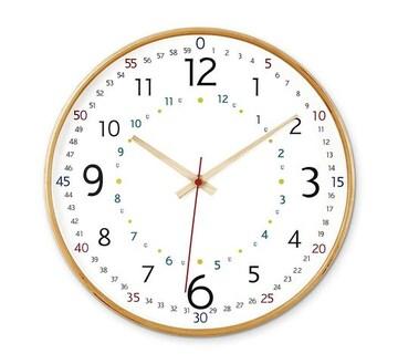 掛け時計 ナチュラル 径31.5×奥行4.5cm