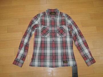 新品NEIGHBORHOODネイバーフッドLOGGERチェックシャツS赤17
