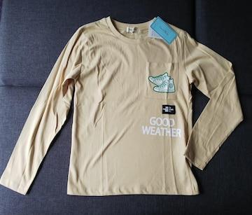 150★Material Blue bis★スニーカー柄ロンT長袖Tシャツ★