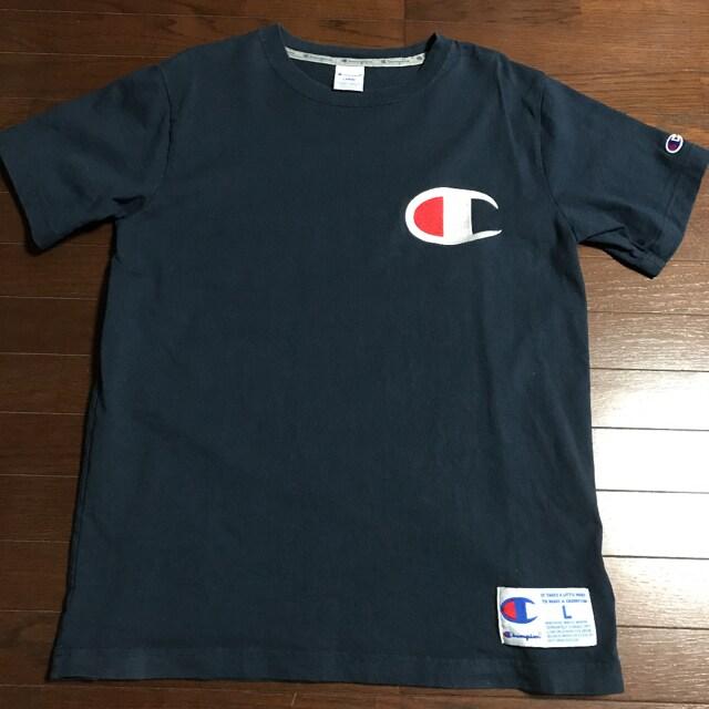 【セール】Lサイズchampionチャンピオン Tシャツ ビックロゴ  < ブランドの
