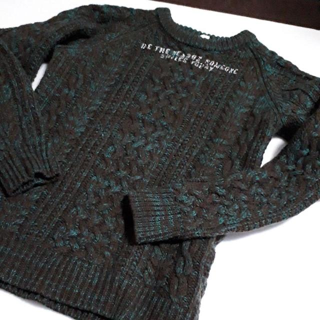 BREEZE ブリーズ 暖かい ケーブル 編み セーター ニット 140  < ブランドの