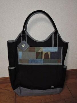 新品DOUBLE R HAMPUダブルアールハンプ トートバッグ鞄黒灰