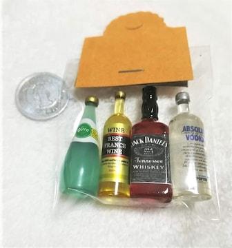 ミニチュア★ウイスキー&ワイン4本セット★ジャックダニエル★