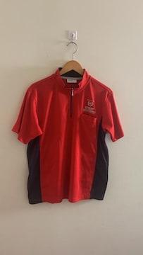 DUNLOP ダンロップ ハーフジップシャツ 赤 レッド L
