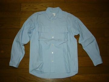 グッドイナフGOODENOUGHストライプワークシャツS薄手