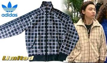 中古アディダス黒KinKi Kids堂本剛ジャケットS総柄2006年