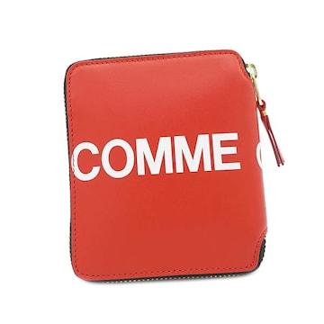 ◆新品本物◆コムデギャルソン HUGE LOGO 2つ折財布(RED)SA2100HL◆