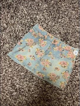 ティーンズ 花柄 デニム ミニスカート SS 150