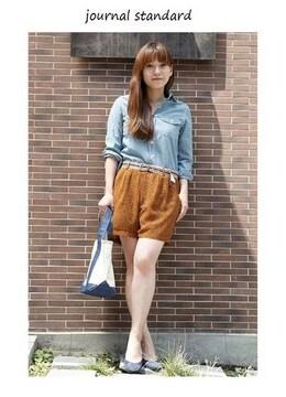 ジャーナルスタンダード*journal standard★シフォン小花柄ショートパンツ(38)新品