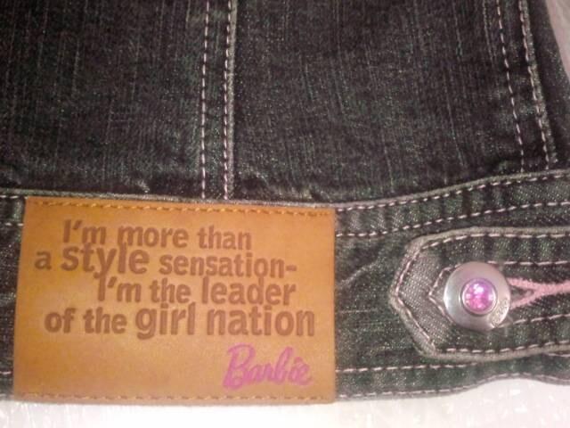 激カワ! Barbie バービー レース&ラインストーン付き 黒 Gジャン 姫系 ジャケット < ブランドの