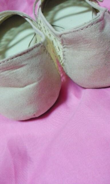 ペタンコ靴薄いピンク色LLサイズ < 女性ファッションの