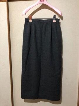新品シェルブロンテ ロングスカート  カシミヤ入 定価14000円