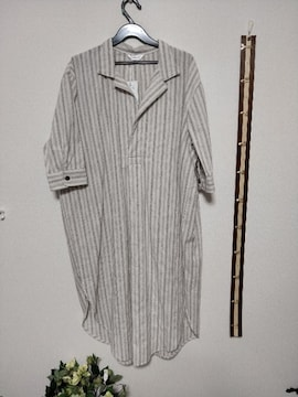 ほほほー。(*^ー゚)だっぽり可愛いシャツワンピだヨーン♪Lサイズ