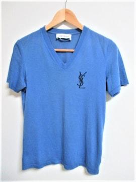 ☆Yves Saint Laurent イヴ・サンローラン Vネック Tシャツ/メンズ/XS