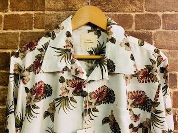 表記M/新品!レーヨン100% 花柄 オープンカラーシャツ 柄シャツ ヒッピー サーフ アメカジ