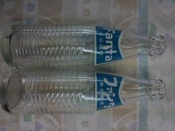 美品 アンティーク ファンタ 瓶 ビン 2本 昭和レトロ