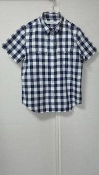 HEAD PORTER PLUSヘッドポータープラスチェック半袖シャツ