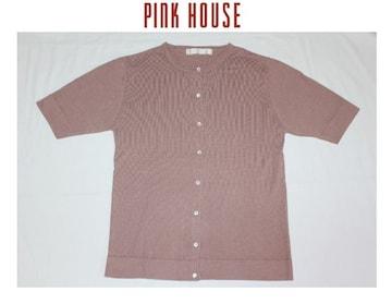 ピンクハウス*PINK HOUSE★綿レーヨン 半袖カーディガン/used
