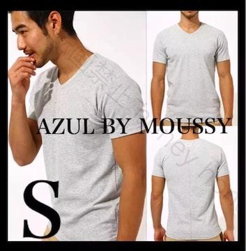 綺麗なシルエット●moussy●タックフライスVネックTシャツ●S