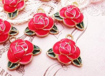 薔薇カラーチャーム4個