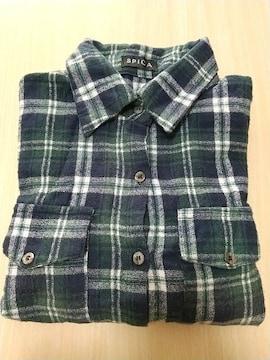 緑のチェックシャツ◆Mサイズ