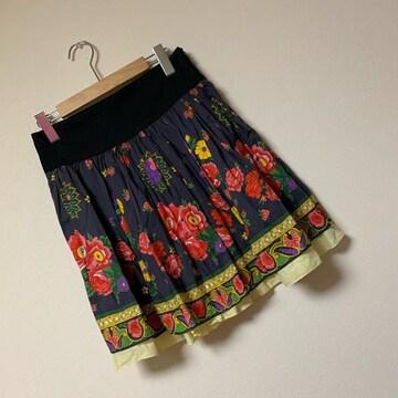 ☆SINDEE 花柄フレアスカート☆