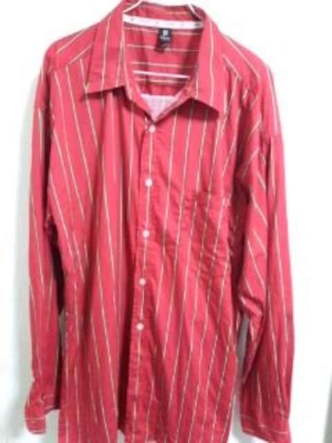 マカベリ ストライプシャツ 2〜3XL位  < 男性ファッションの