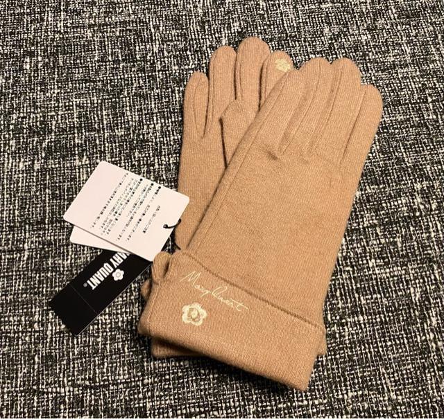 新品☆MARY QUANT(マリークワント)スマホOKウール手袋☆  < ブランドの
