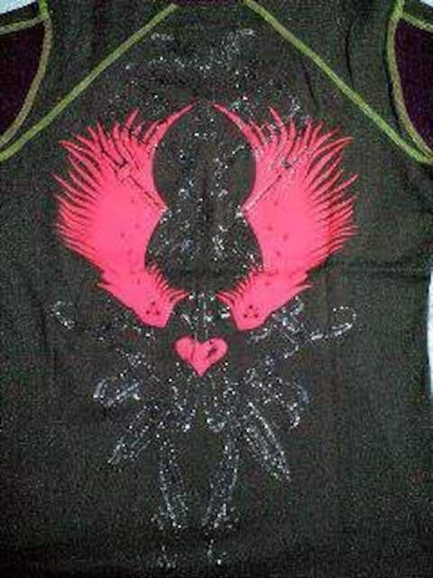 新品エロスハート ステッチ切替ロゴ刺繍7分袖メンエグLAST < 男性ファッションの
