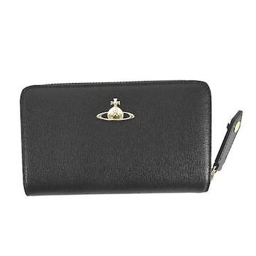 ★ヴィヴィアン SAFFIANO 2つ折財布(BK)『51080002』★新品本物★