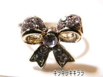 《New》ageha掲載★エタニティリボン・リング/指輪<アクアマリン>【箱付】