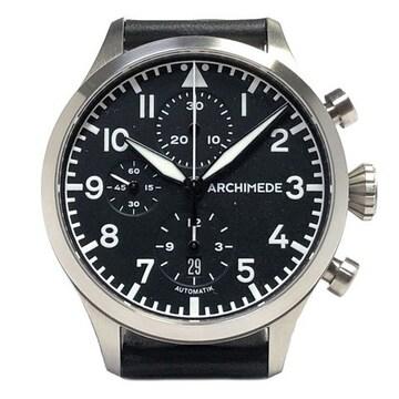 新品同様アルキメデクラシッククロノグラフ自動巻き腕時計ト