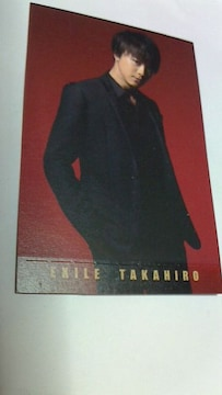 LAWSONEXILE スピードくじフォトカードコレクションTAKAHIRO