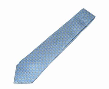 ブルガリ LOGO BB ネクタイ セブンフォールド シルク ライトブルー 未使用 送料無料