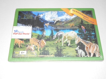 3Dパズル POP Out World The Animal Kingdom from schoolbook