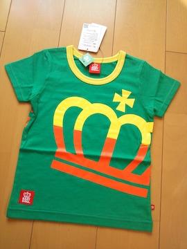 新品ビッグ斜め王冠Tシャツ110緑ベビドBABYDOLLベビードール