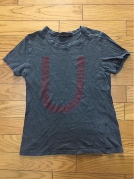中古アンダーカバーTシャツ1灰色デカロゴ レディース