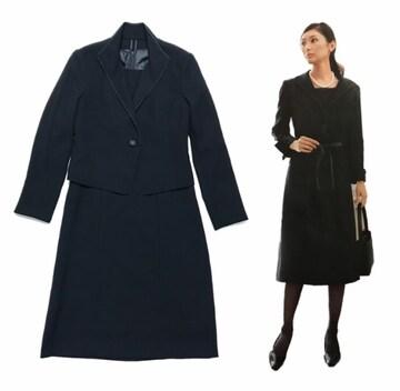 ブラックフォーマル喪服〓ワンピース&ジャケット(9号M)セットアップ〓美品