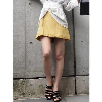 MURUA ラップミニスカート イエロー