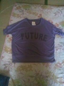紫のドルマンスリーブ