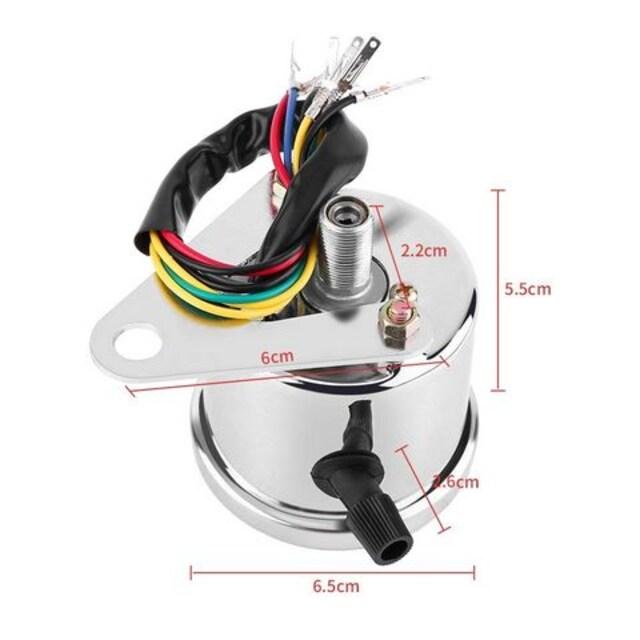 ミニ スピードメーター バイク LED バックライト < 自動車/バイク