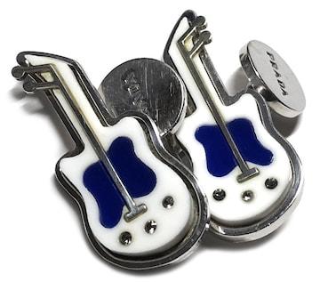 正規プラダカフスギターロゴシルバーSV925カフリンク
