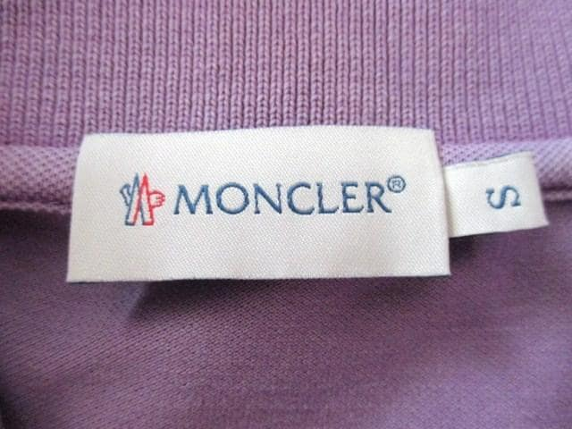 ☆MONCLER モンクレール ヴィンテージ加工 ペイント ポロシャツ/メンズ/S☆希少モデル < ブランドの