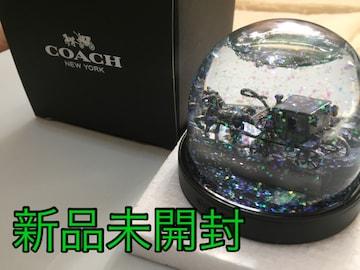 新品未使用☆COACH 馬車オブジェ インテリア★スノードーム