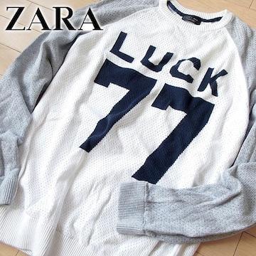 超美品 (EUR)L ZARA MAN ザラ メンズ ニット ホワイト
