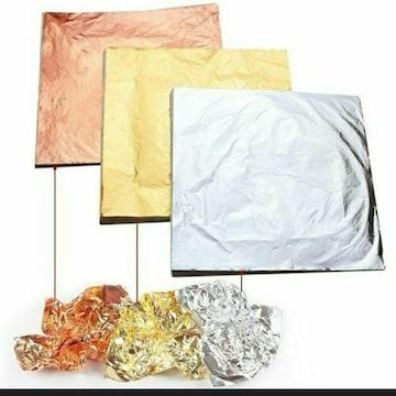 新品 未使用 金箔 銀箔 銅箔 模造品 メッキ 100枚 3種類